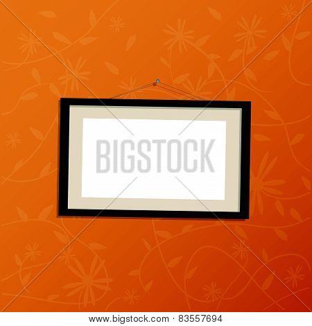 Hanging Picture Frame Illustration