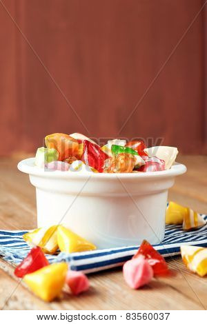 Bowl With Colorful Sweet Candies