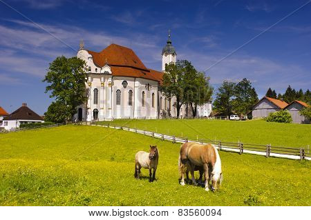 landmark church Wieskirche in Bavaria