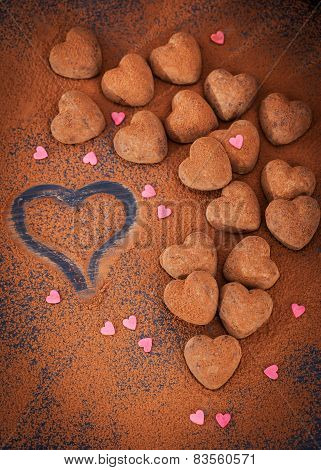 Heart Shaped Chocolate Truffles
