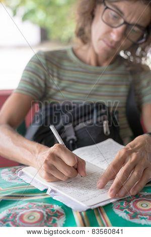 Mature Lady Hand Writing