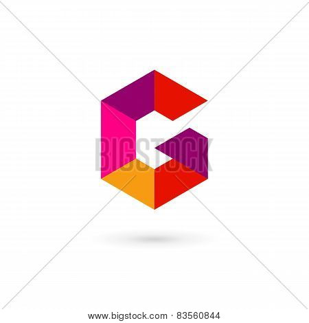 Letter G Mosaic Logo Icon Design Template Elements