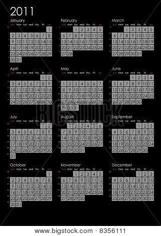 Simple Calendar 2011