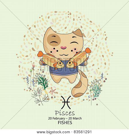 Zodiac sign - Pisces.