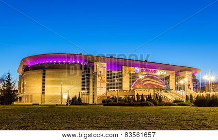 Belgrade, Serbia - December 27: Kombank Arena On December 27, 2014 In Belgrade, Serbia. The Arena Is