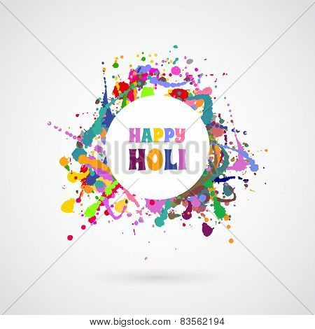 Happy Holi Card Template