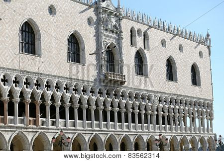 Doge's Palace In Venice Italy