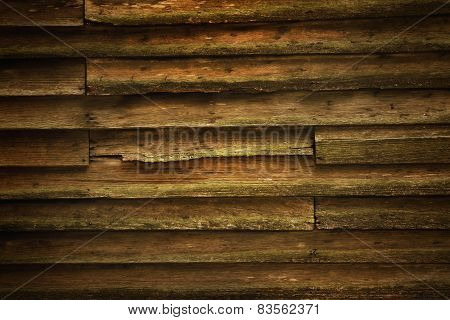 Vintage Teak Wood Wall For Background