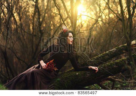 Beautiful Brunette Sitting