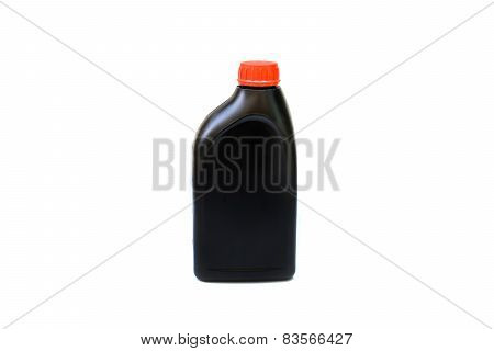 Bottle Of Lubricant For Car Isolated