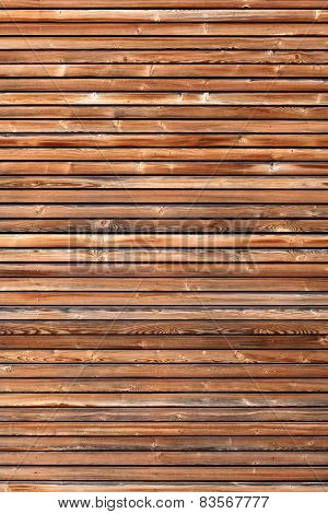 Wooden facade in vertical format