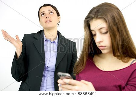 Mother Desperate About Daughter Phone Addiction