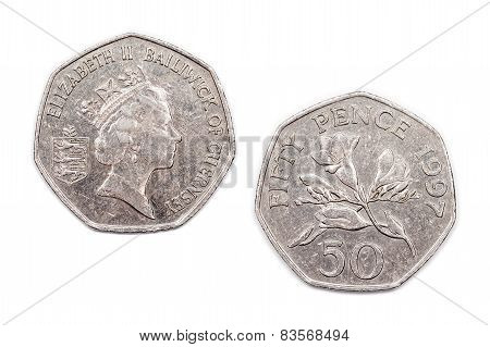 Fifty Pence from Guernsey 1997
