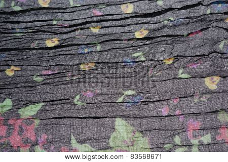 Abstract Black Background With Floral Pattern Texture
