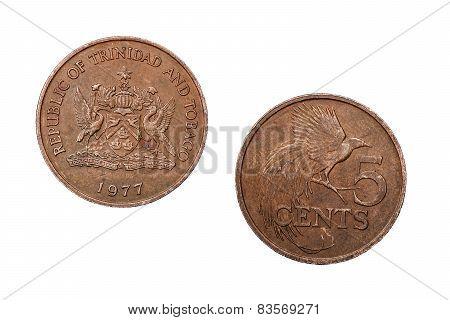 Five Cents Trinidad and Tobago 1977