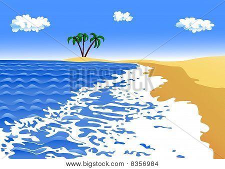 sea surf on a sandy beach