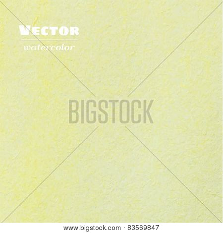Vector light yellow watercolor background