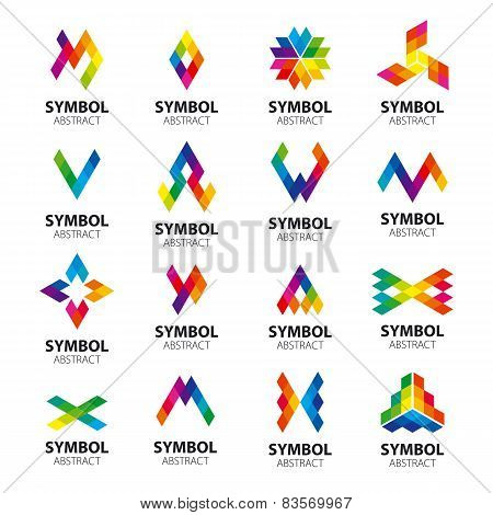 Set Of Vector Icons Abstract Modules