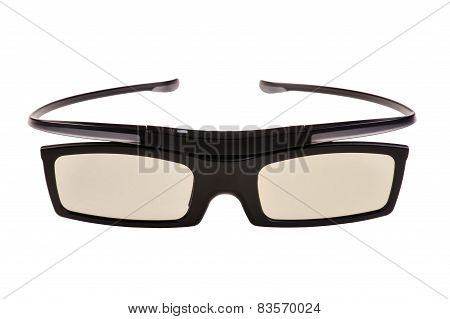 3D Eyeglasses On White
