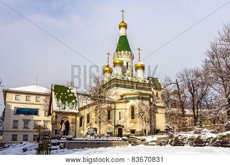 The Russian Church Of St. Nicholas In Sofia - Bulgaria