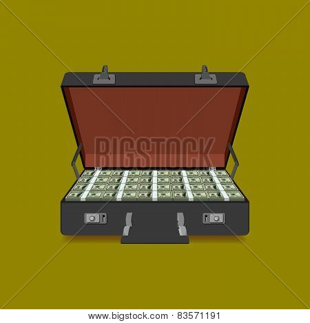 case full of dollar
