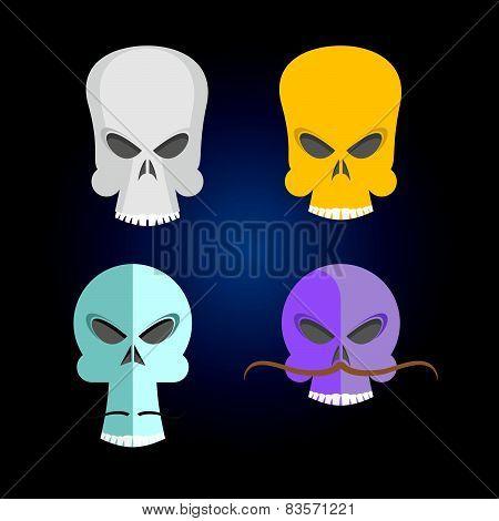 Set Skull Cartoon.