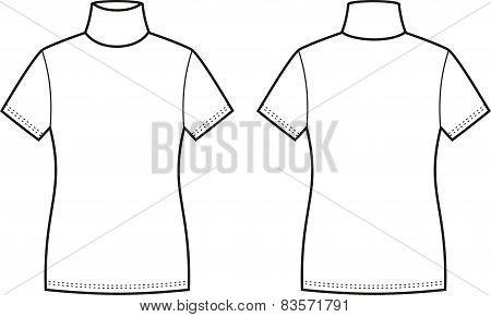 Short-sleeve Turtleneck