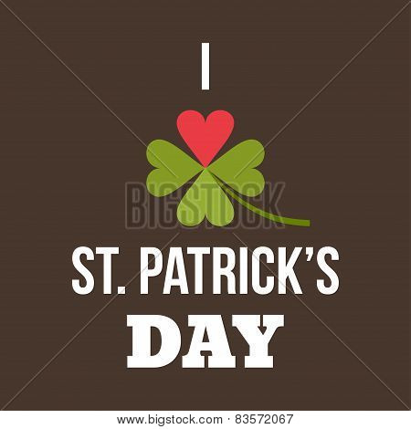St. Patricks Day Card Design. Vintage Holiday Badge Design