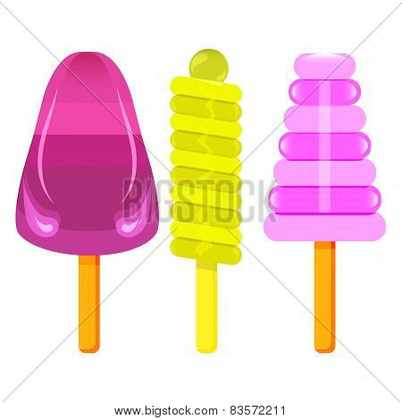 Vector Ice Cream On A Stick