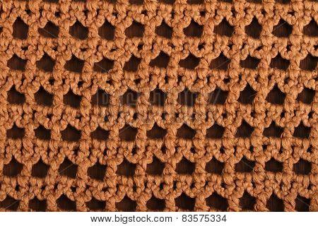 Woolen Brown On The Wood