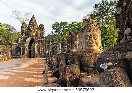 Sculptures Of Demons Of Asia