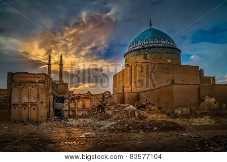 Old mosque in Yazd