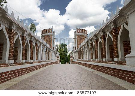 Vintage Old Bridge In The Park Tsaritsyno
