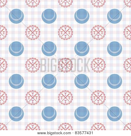 Seamless Pattern Of Baseball