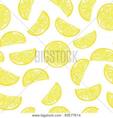 Seamless sliced lemon pattern