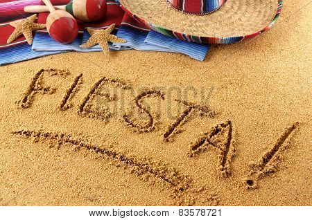 Fiesta Beach Writing