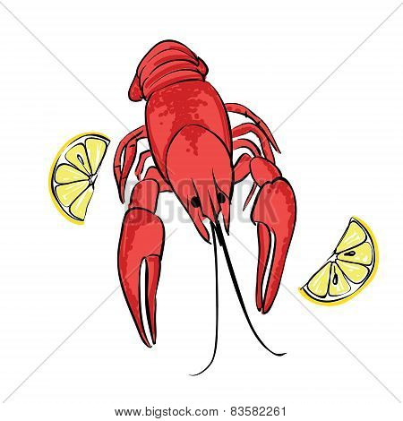 Boiled Craw Fish With Lemon