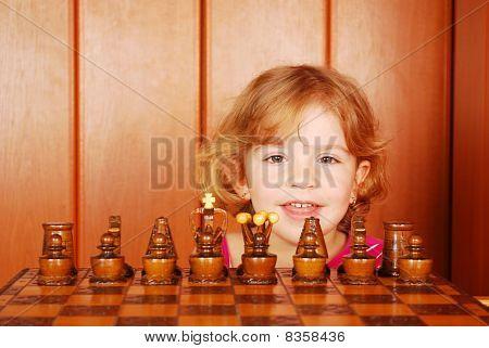Little Mädchen und Schach