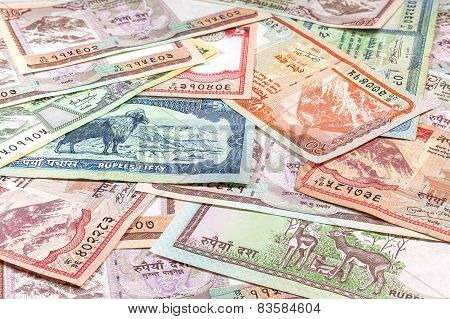 Money From Nepal, Various Rupee Banknotes.