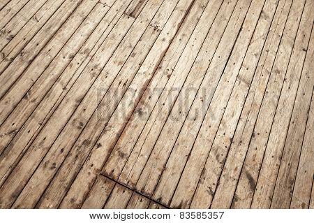 Wooden Floor Background Texture With Perspective