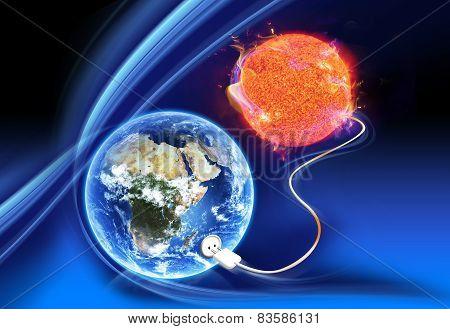 Solar Electricity Concept