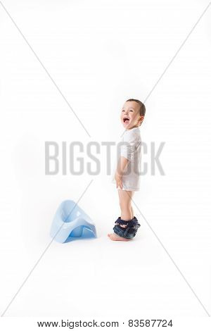 Baby With Potty