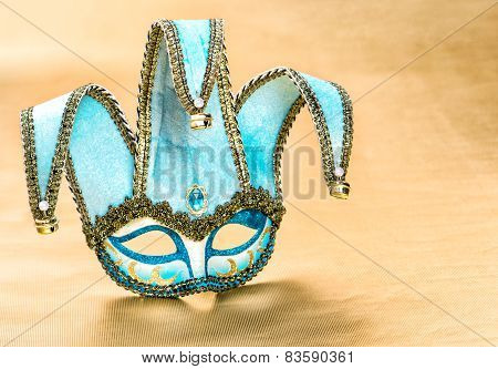 Venetian Carnival Mask Harlequin. Festive Decoration