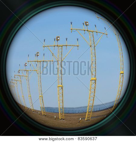 Runway Lights In Objective Lens