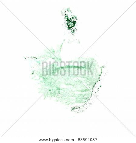 Blot divorce illustration green artist of handwork is isolated o
