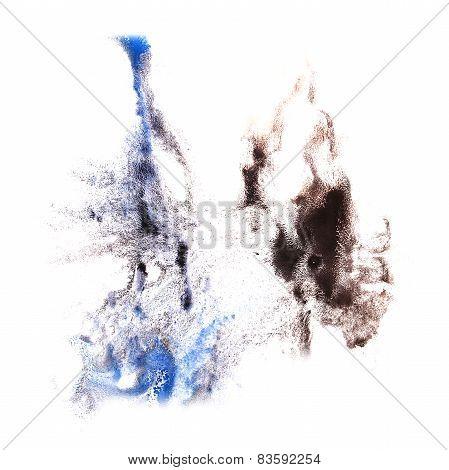 macro spot blue, black blotch texture isolated on white texture