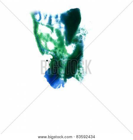 macro spot green, black blotch texture isolated on white texture