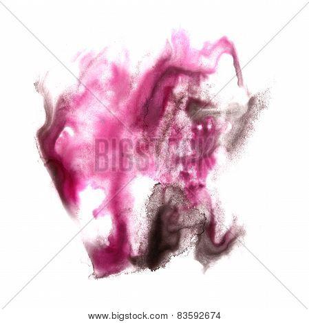 macro spot purple, black blotch texture isolated on white textur