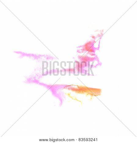 Blot divorce illustration yellow, pink artist of handwork is iso