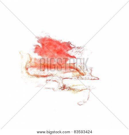 Blot divorce red illustration artist of handwork is isolated on